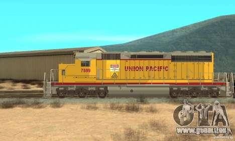 Lokomotive SD 40 Union Pacific für GTA San Andreas zurück linke Ansicht