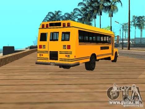 School bus für GTA San Andreas zurück linke Ansicht