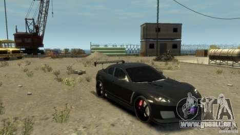 MAZDA RX8 pour GTA 4 Vue arrière de la gauche