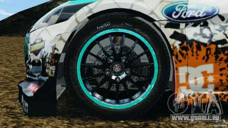 Ford Fiesta RS WRC Gymkhana v1.0 pour GTA 4 Vue arrière