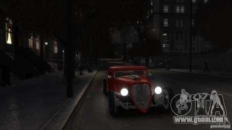Ford Ratrod 1934 pour GTA 4 est un droit