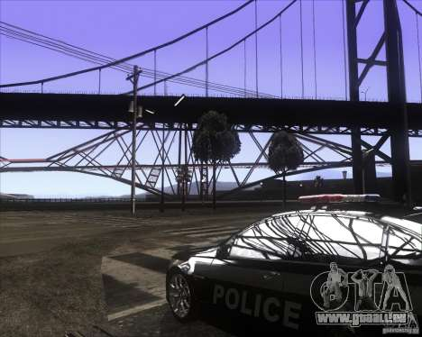 Enbsereis 0.74 Dark pour GTA San Andreas deuxième écran