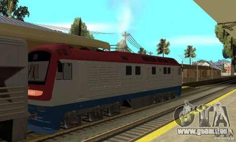 Diesel locomotive TÈP150-001 pour GTA San Andreas sur la vue arrière gauche