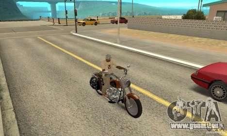 Harley Davidson FLSTF (Fat Boy) v2.0 Skin 2 für GTA San Andreas rechten Ansicht