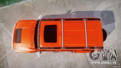 Hummer H3 pour GTA 4 vue de dessus