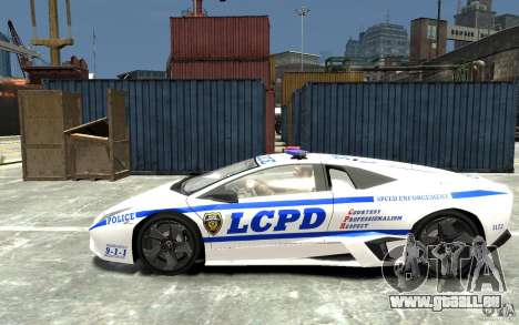 Lamborghini Reventon LCPD pour GTA 4 est une gauche