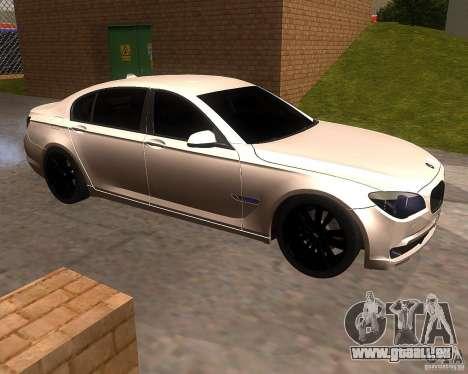 BMW 750Li 2010 pour GTA San Andreas laissé vue