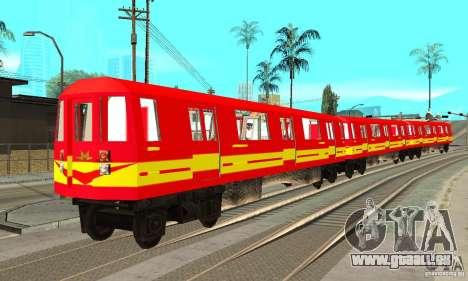Liberty City Train Red Metro pour GTA San Andreas