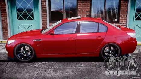 BMW M5 E60 2009 pour GTA 4 est une gauche