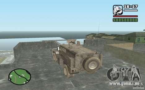 Camion militaire pour GTA San Andreas laissé vue
