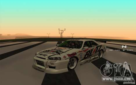 Nissan Skyline ER34 D1GP Blitz für GTA San Andreas