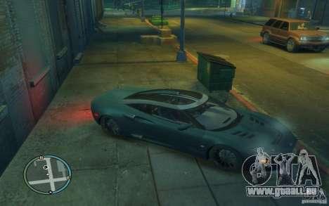 Spyker C8 Aileron pour GTA 4 est une vue de l'intérieur