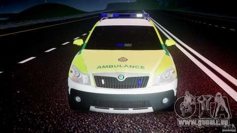 Skoda Octavia Scout Paramedic [ELS] pour GTA 4 Salon