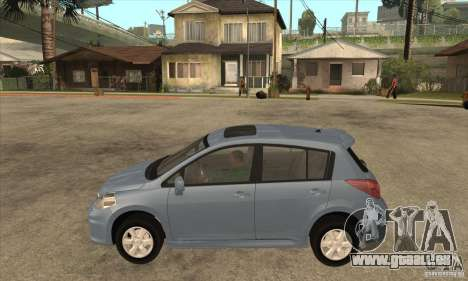 Nissan Tiida pour GTA San Andreas laissé vue