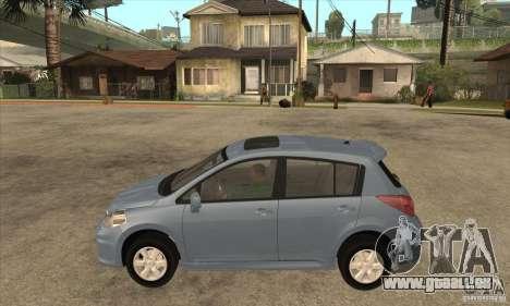 Nissan Tiida für GTA San Andreas linke Ansicht