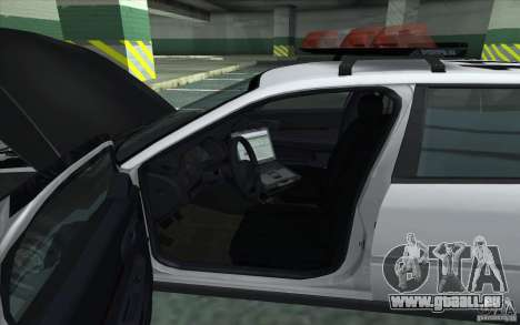 Chevrolet Impala 2003 SFPD pour GTA San Andreas sur la vue arrière gauche