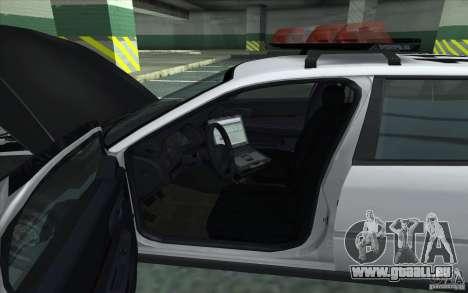 Chevrolet Impala 2003 SFPD für GTA San Andreas zurück linke Ansicht