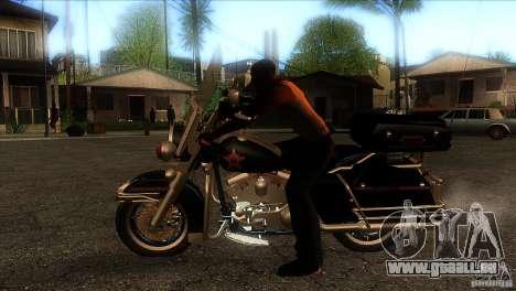 Harley Davidson pour GTA San Andreas laissé vue
