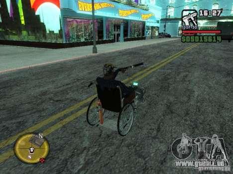 Fauteuil roulant manuel pour GTA San Andreas vue arrière
