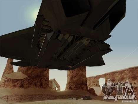 FA22 Raptor pour GTA San Andreas vue de côté