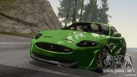 Jaguar XKR-S 2011 V1.0 pour GTA San Andreas vue intérieure