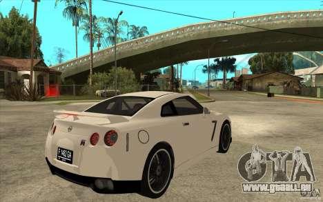 Nissan GT-R R35 für GTA San Andreas rechten Ansicht