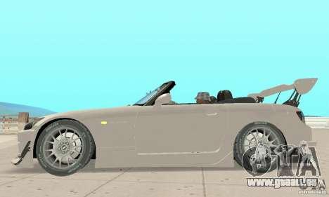Honda S2000 Cabrio West Tuning für GTA San Andreas zurück linke Ansicht