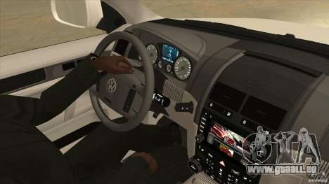 Volkswagen Touareg R50 pour GTA San Andreas vue intérieure