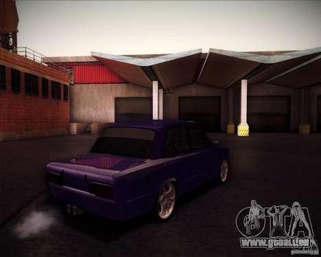 Dérive de VAZ 2106 pour GTA San Andreas vue arrière