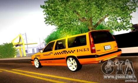 Volvo 850 R Taxi für GTA San Andreas linke Ansicht