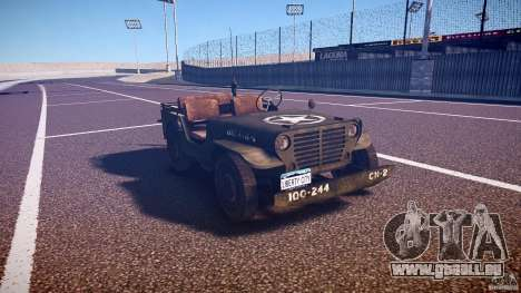 Walter Military (Willys MB 44) v1.0 pour GTA 4 Vue arrière