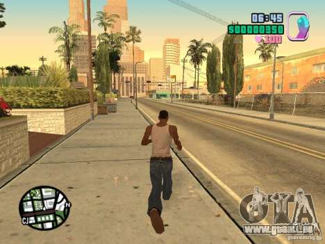 Vice City Hud für GTA San Andreas zweiten Screenshot