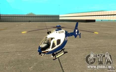 NYPD Eurocopter von SgtMartin_Riggs für GTA San Andreas linke Ansicht