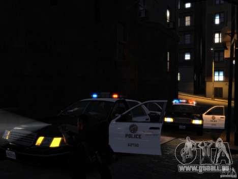 Ford Crown Victoria LAPD v1.1 [ELS] für GTA 4 Seitenansicht