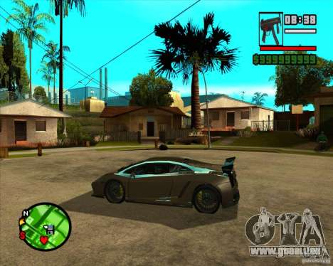 Lamborghini Gallardo Extreme Tuned pour GTA San Andreas vue de droite