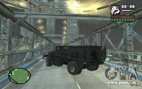 Camion militaire pour GTA San Andreas vue de côté