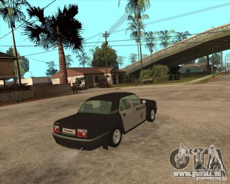 GAZ Volga 3110 Police von versandfertig für GTA San Andreas zurück linke Ansicht