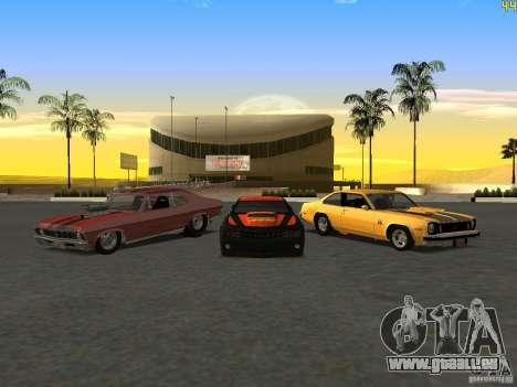Chevrolet Camaro NOS pour GTA San Andreas vue arrière