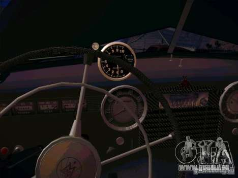 GAZ m 20 premiers 1956 pour GTA San Andreas vue intérieure