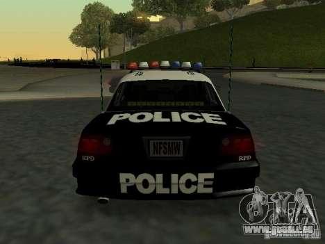 Police Civic Cruiser NFS MW für GTA San Andreas rechten Ansicht