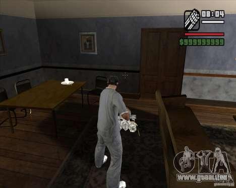 Chrom-Minigun für GTA San Andreas dritten Screenshot