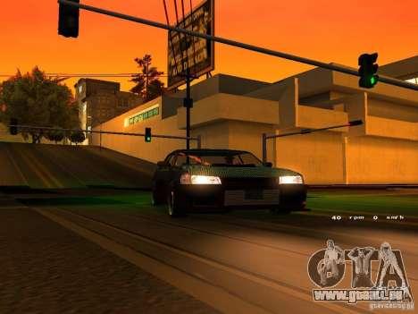 New Sultan pour GTA San Andreas vue intérieure