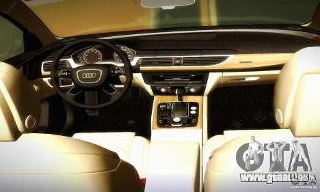 Audi A6 2012 pour GTA San Andreas vue de dessus
