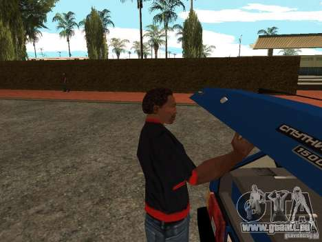 Ouvrez le coffre et capot manuellement pour GTA San Andreas deuxième écran