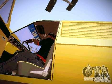 Volga GAZ-24 02 Van pour GTA San Andreas vue intérieure