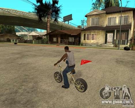 WideWheel-BMX 1 LOUIS VUITTON Version pour GTA San Andreas laissé vue