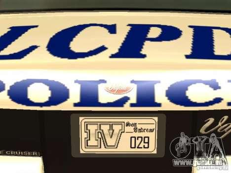Die Polizei von GTA4 für GTA San Andreas Innen