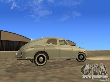 GAZ M20 Pobeda 1949 pour GTA San Andreas vue intérieure