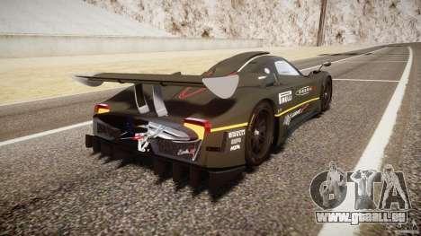 Pagani Zonda R 2009 pour GTA 4 vue de dessus