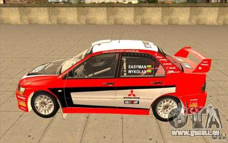 Mitsubishi Lancer Evo IX DiRT2 pour GTA San Andreas laissé vue